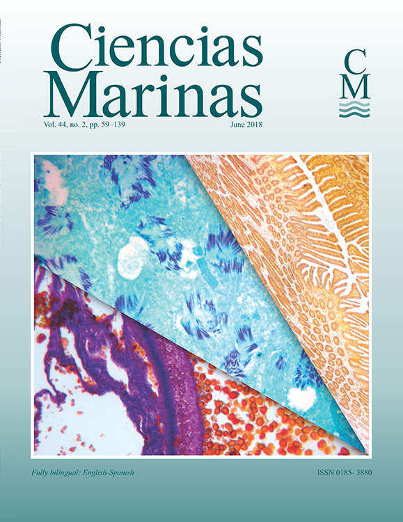 Ciencias Marinas journal cover: vol. 44, no. 2, pp 59–139; June 2018